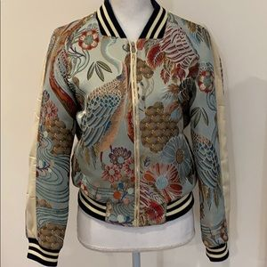 Excellent condition Maje Boyan Embroidered Bomber